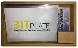 Bitplate Cold Wallet - Lieferumfang