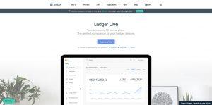 Ledger Live Webseite