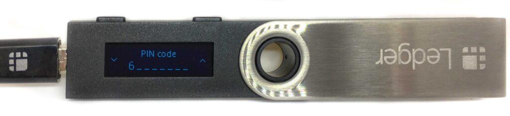 Ledger Nano S - PIN-Code eingabe