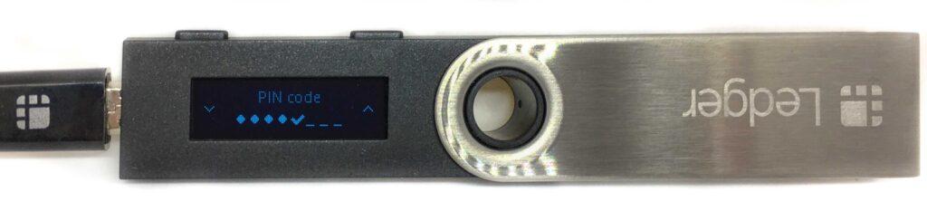 Ledger Nano S - PIN-Code bestätigen
