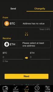 CoolBitX App - Changelly