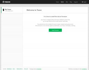 Trezor Wallet - Erste Firmware Installieren