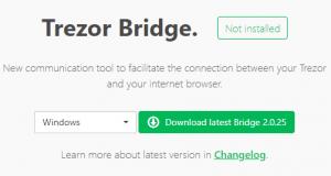 Trezor Wallet - Trezor Bridge herunterladen