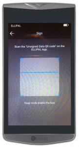 Ellipal Wallet - QR-Code Scannen