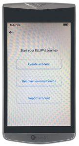 Ellipal Wallet - Neues Konto erstellen