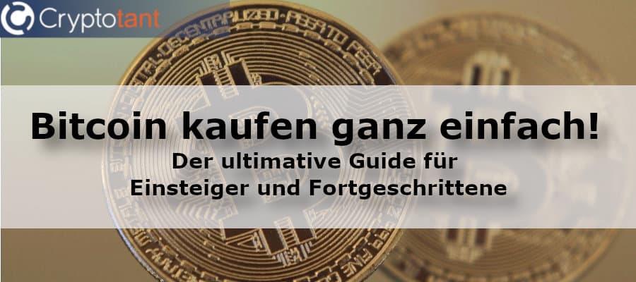 Bitcoin kaufen ganz einfach