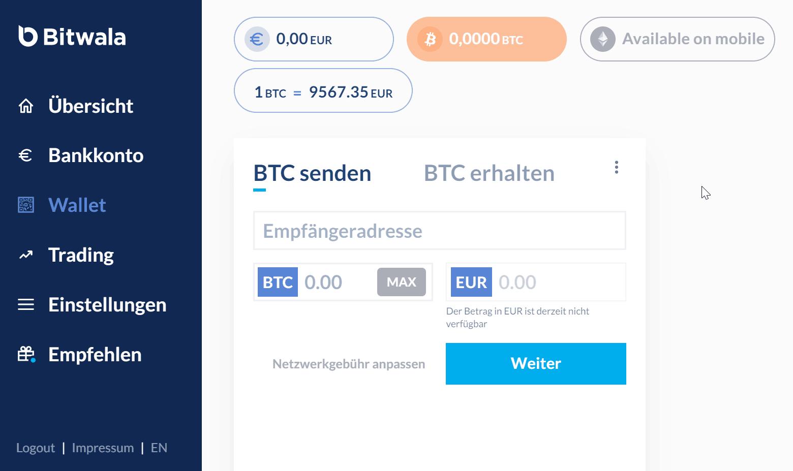 Anycoin directo bitcoin senden