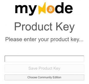 MyNode Pduktschlüssel